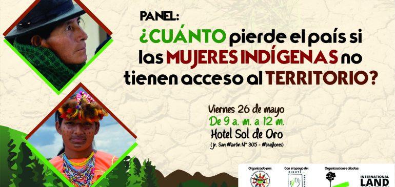 Panel: «¿Cuánto pierde el país si las mujeres indígenas no tienen acceso al territorio?»