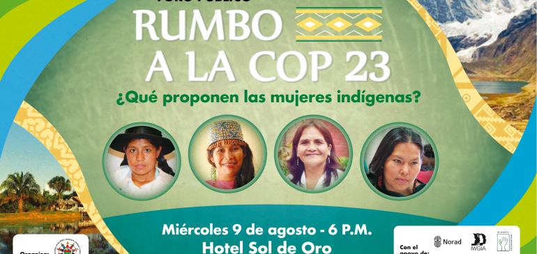 Foro Público: Rumbo a la COP 23 ¿Qué proponen las mujeres indígenas?