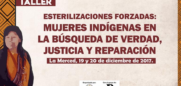 La Merced: Mujeres ashaninkas afectadas por las esterilizaciones forzadas participarán en taller