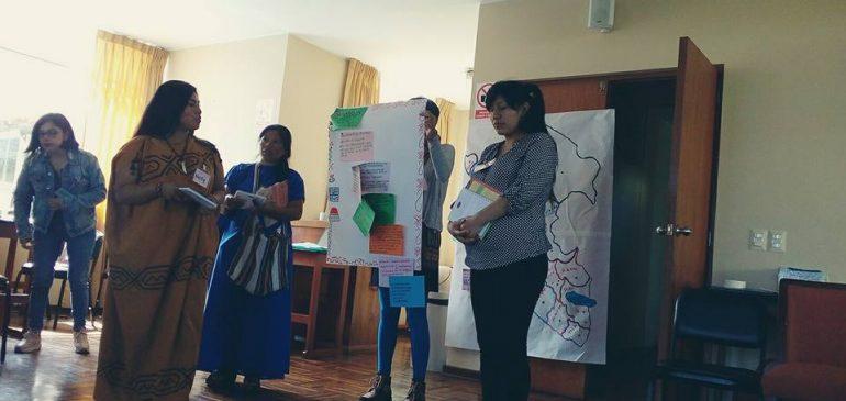 Mujeres de ONAMIAP participan en diálogos entre lideresas feministas y lideresas indígenas