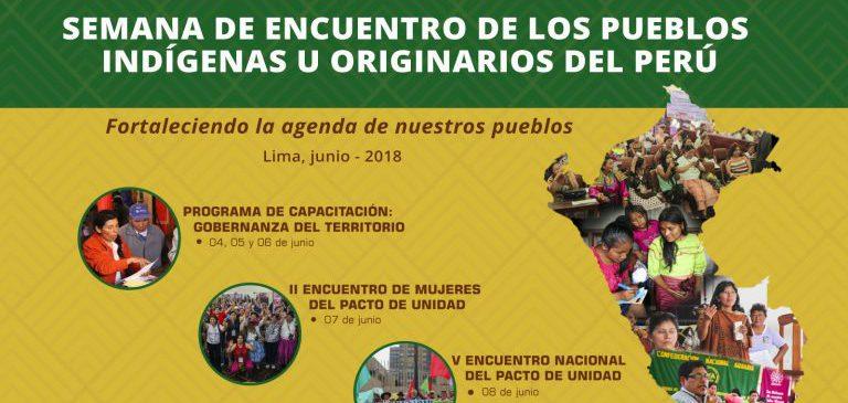 Representantes de pueblos indígenas del Perú se reunirán para fortalecer su agenda
