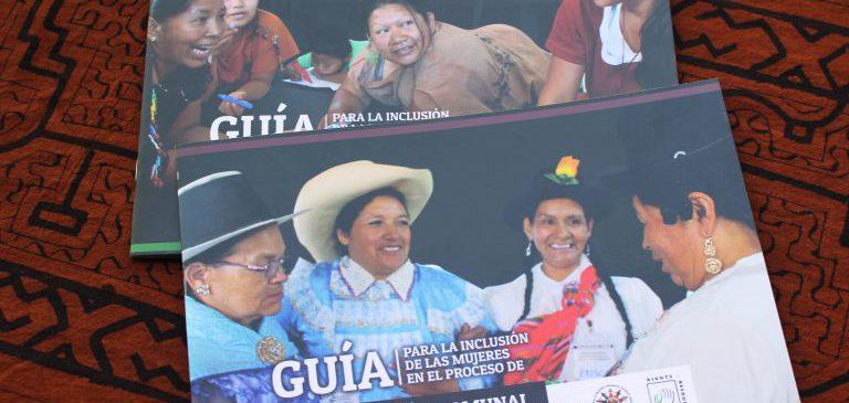 ONAMIAP presenta guías para incluir a las mujeres indígenas en los procesos de titulación comunal