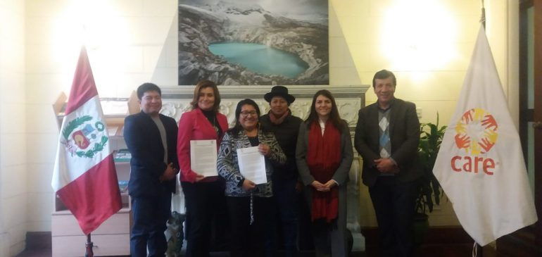 ONAMIAP y Care firmaron convenio de cooperación interinstitucional