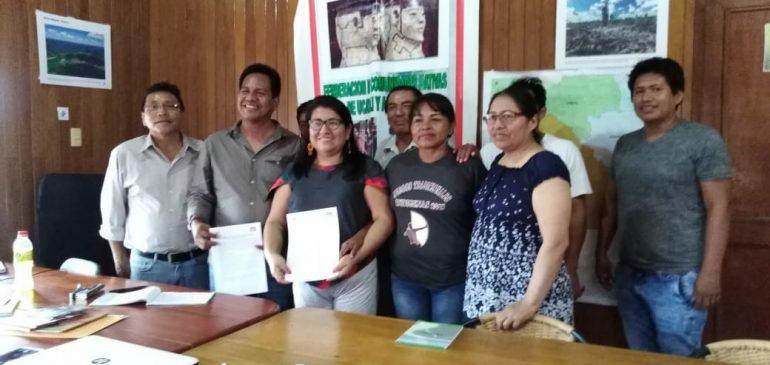 ONAMIAP y FECONAU firman convenio para contribuir al fortalecimiento de las comunidades nativas de la región Ucayali
