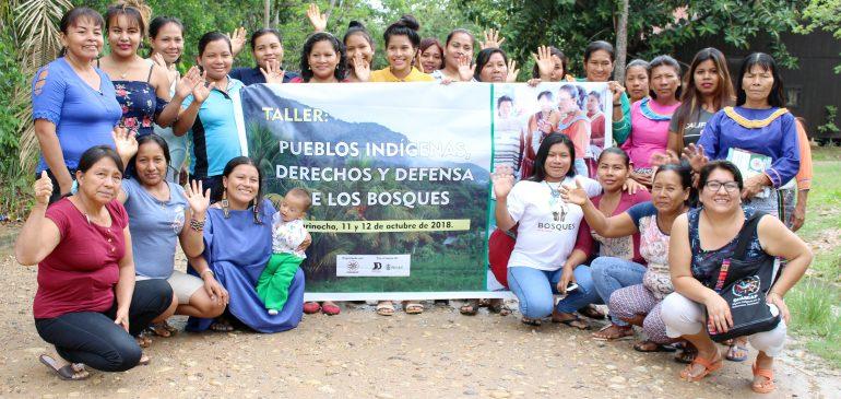 Mujeres shipibas participaron en taller sobre derechos y defensa de los bosques