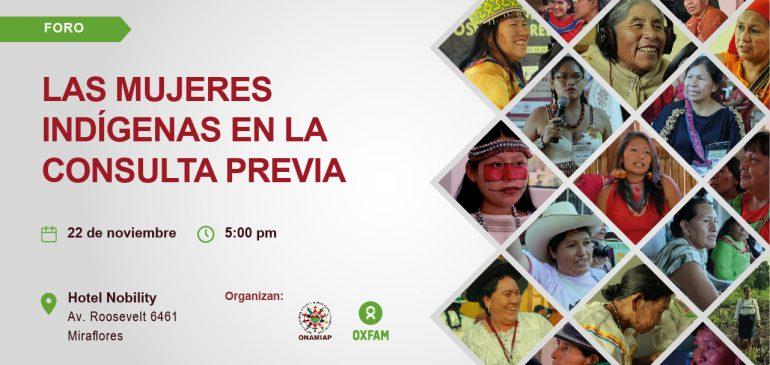 Foro analizará participación de mujeres indígenas en la consulta previa