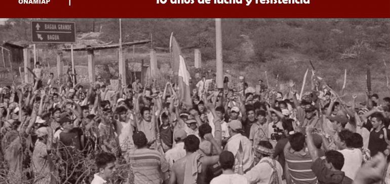 Bagua no se olvida: 10 años de lucha y resistencia