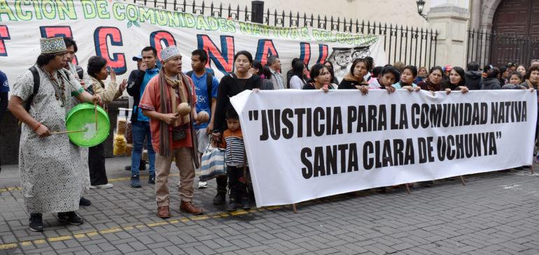 Tribunal Constitucional realizó audiencia sobre el caso de la Comunidad Nativa Santa Clara de Uchunya