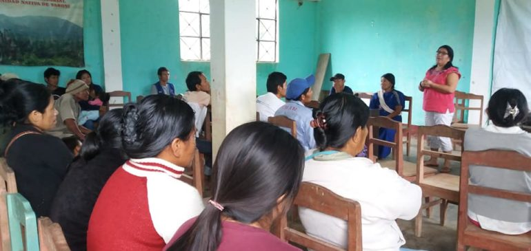 Trabajamos para fortalecer la participación de las mujeres en las comunidades