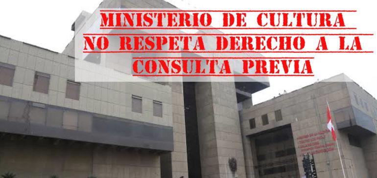ONAMIAP exige Consulta Previa sobre Política Nacional de Pueblos Indígenas y Decreto Supremo N°009-2019-MC