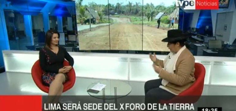 Entrevista a Melania Canales en TV Perú