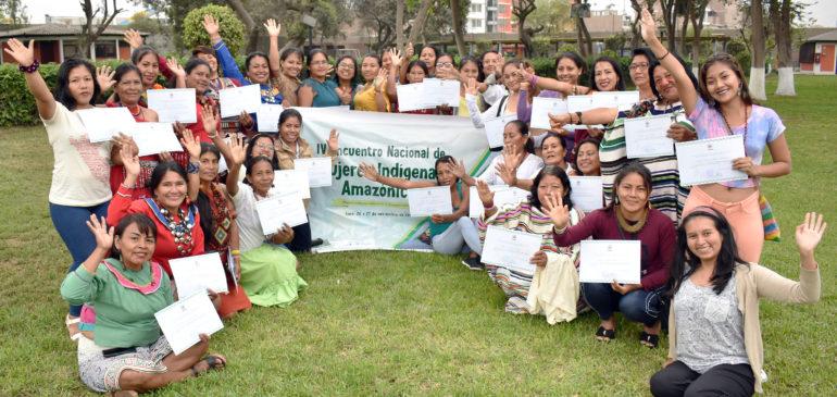 Lideresas indígenas amazónicas participaron en IV Encuentro Nacional