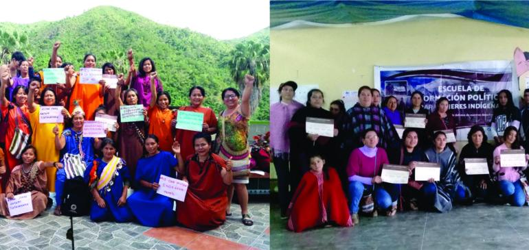 Lideresas indígenas concluyeron exitosamente Escuelas de Formación Política