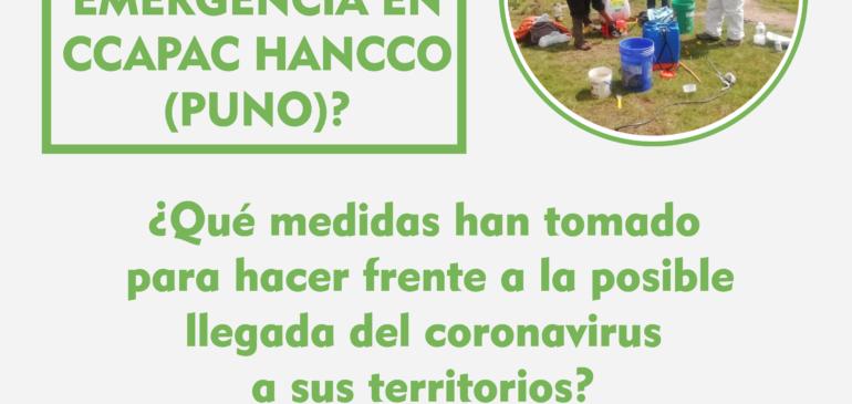 ¿Cómo se vive el Estado de Emergencia en Ccapac Hancco (Puno)?