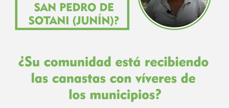 ¿Cómo se vive el Estado de Emergencia en San Pedro de Sotani (Junín)?
