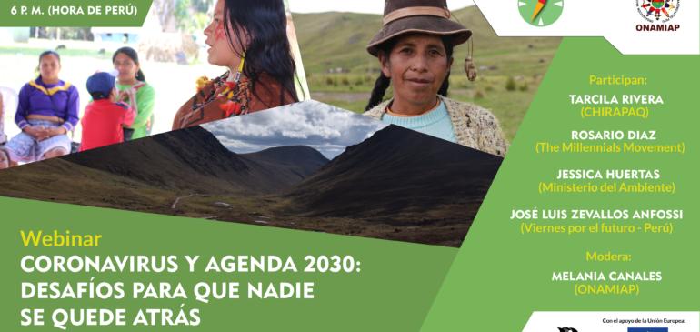 Mujeres indígenas organizan webinar «Coronavirus y Agenda 2030: desafíos para que nadie se quede atrás»