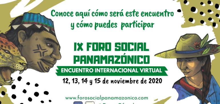 Inició el IX Foro Social Panamazónico 2020