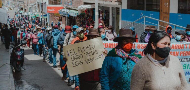 Solidaridad con las comunidades ayacuchanas en defensa de la vida y el agua