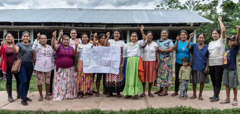 San Martín: mujeres kechuas del Bajo Huallaga dialogan sobre las NDC y la organización indígena