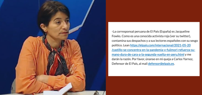 Repudiamos ataques de la ultraderecha contra periodista Jacqueline Fowks